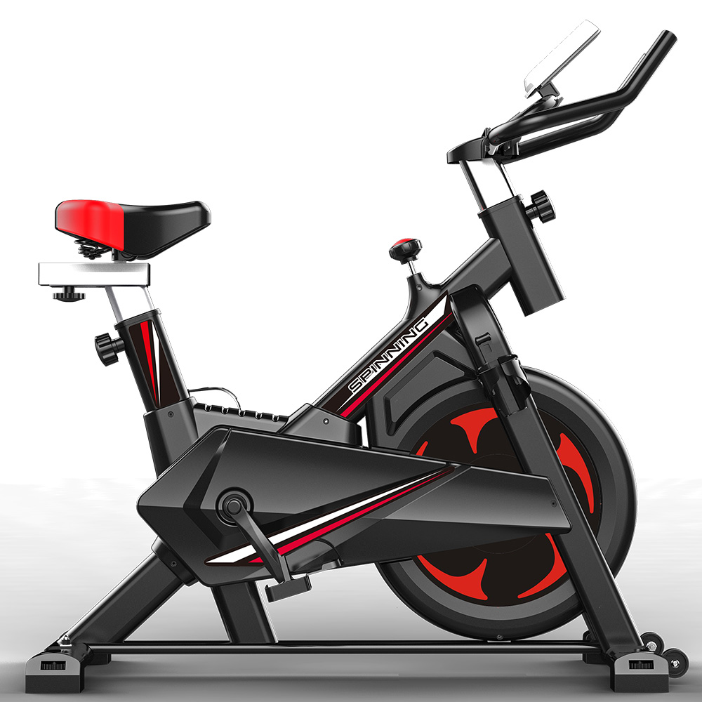 JMQ FITNESS 6104 Indoor Cycling Bike for Professional Cardio Workout Home Red