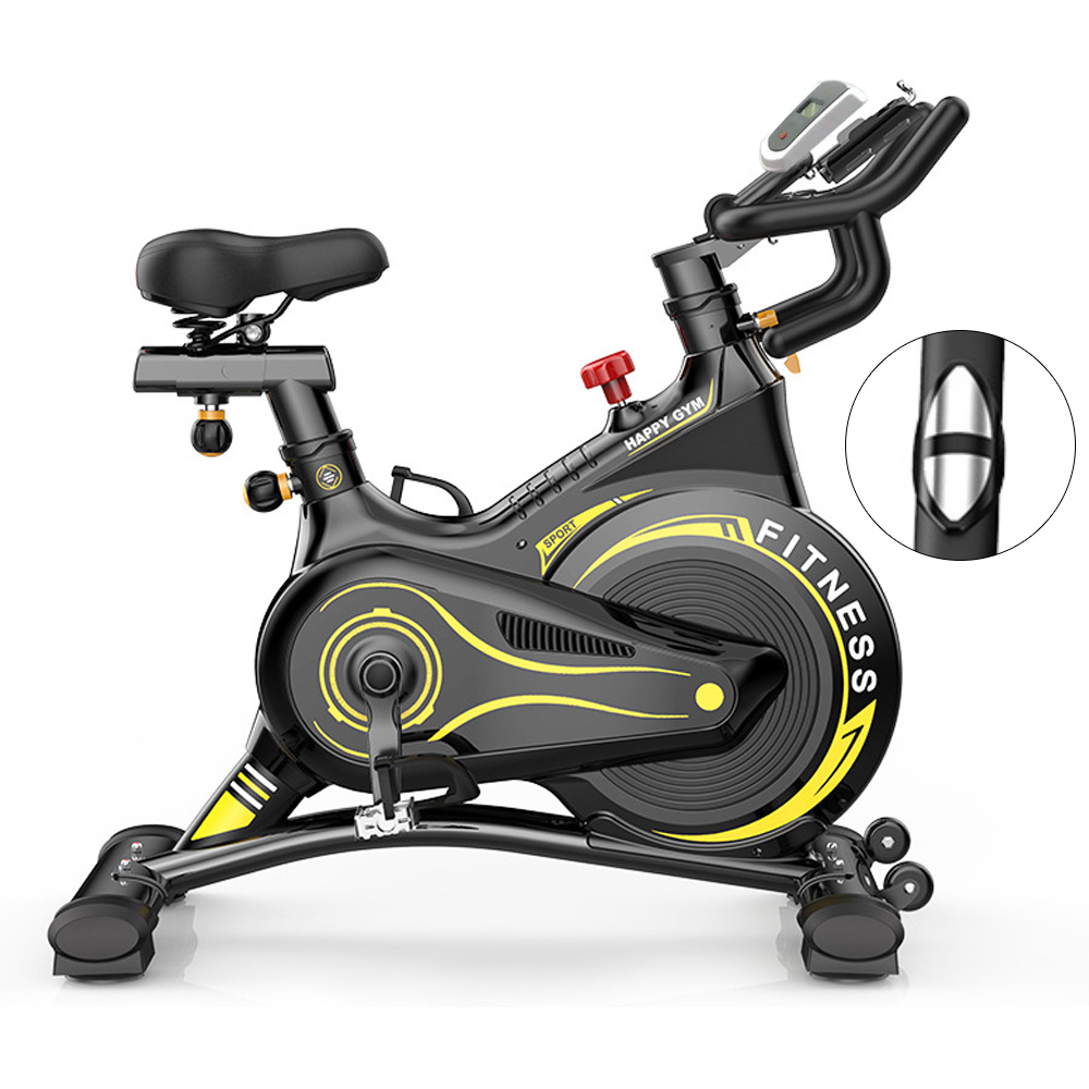 JMQ Fitness S500 Professional Indoor Cycling Spin Bike with Pulse Sensors Exercise Spinning Bikes