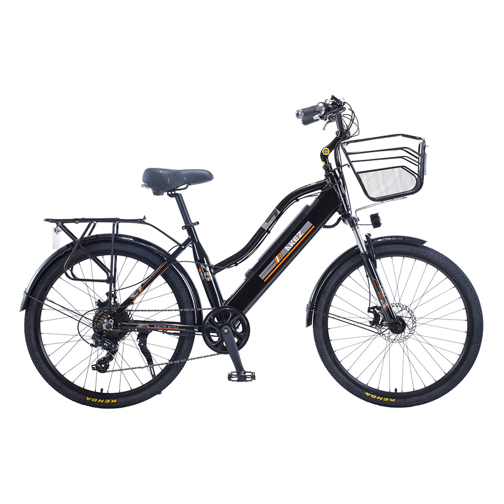"2020 AKEZ 26"" Electric Bike City Bikes Bicycles Assisted Bicycle Women"