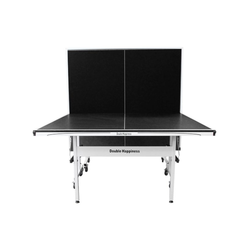Double Happiness Indoor Premium 160 Table Tennis Ping Pong Table Black Top with Upgraded Accessories