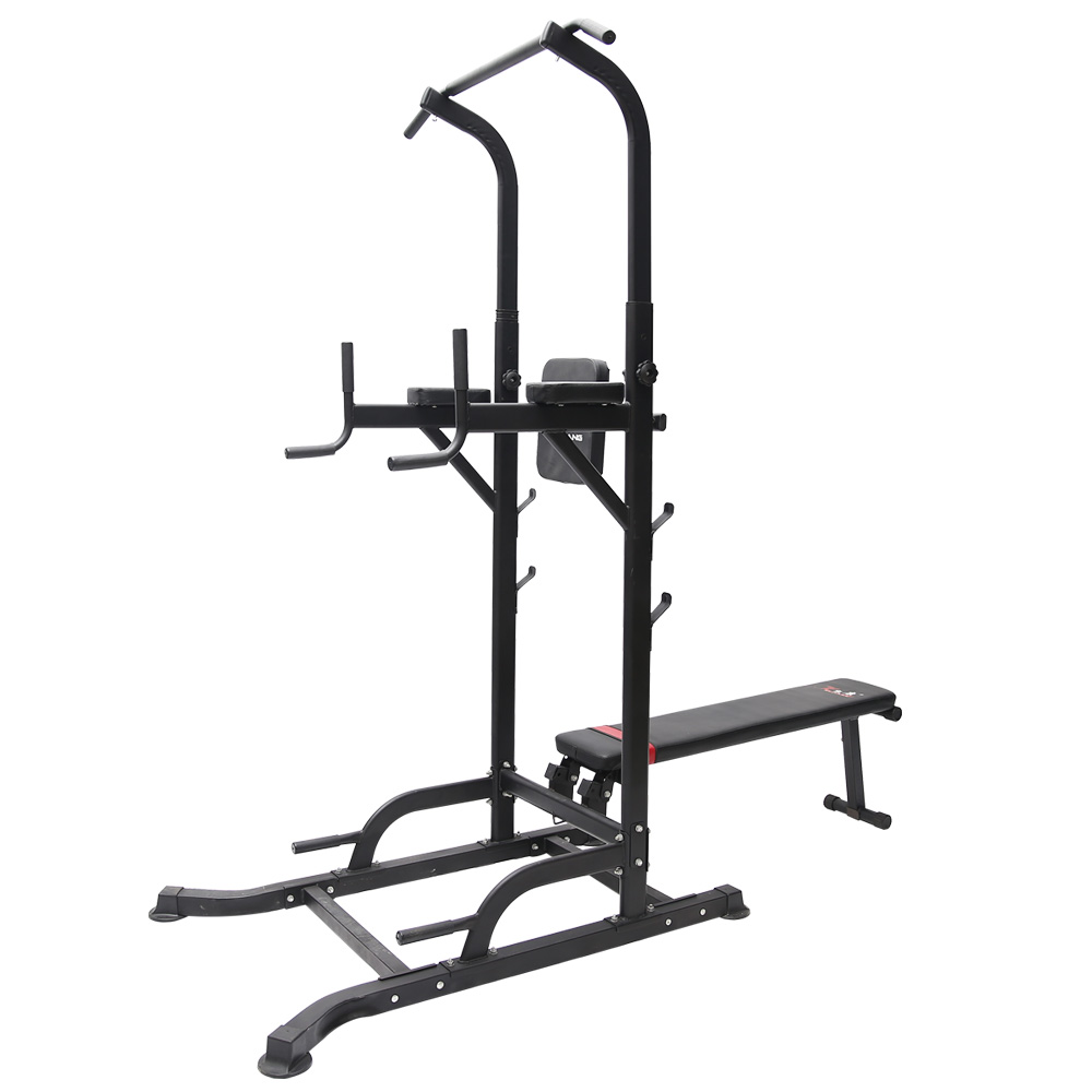T058 Pull Up Chin Up Knee Raise Workout Station Men Women Exercise Home GYM Fitness