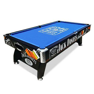 7FT MDF Black / Blue Pool Snooker Billiards Table Free Accessory