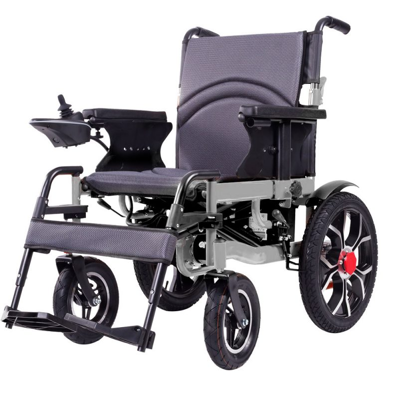 OP-106S Electric Power Wheelchair Motorized Wheelchairs Foldable Silver / Black