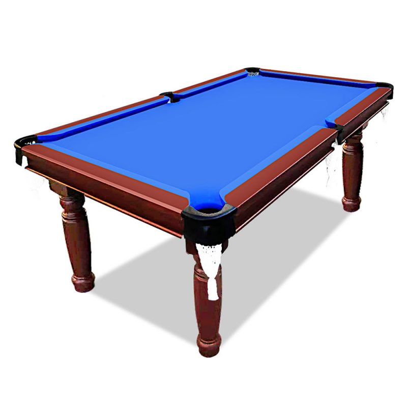 Smart Series 7FT MDF Round Leg Pool Snooker Billiards Table with Free Accessories