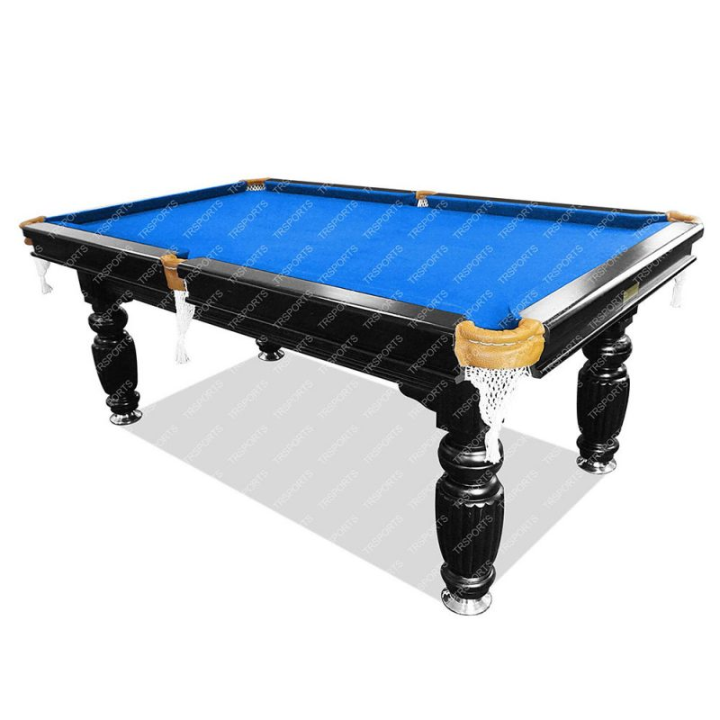 8FT Luxury Slate Pool Table Solid Timber Billiard Table Professional Snooker Game Table with Accessories Pack,Black Frame
