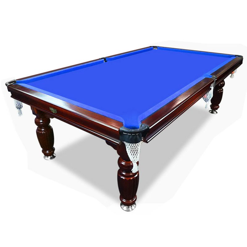 8FT Luxury Slate Pool Table Solid Timber Billiard Table Professional Snooker Game Table with Accessories Pack,Walnut Frame