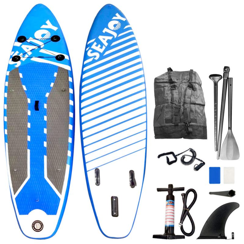 SEAJOY Stand Up Paddle SUP Inflatable Surfboard Paddle board with Accessories & Carry Bag Blue