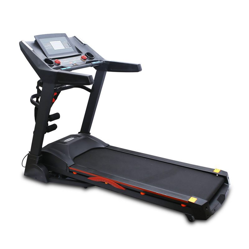 JMQ Fitness 5668 4.5HP Foldable Electric Treadmill Home Fitness Auto Incline w/ Multi-functional Accessories