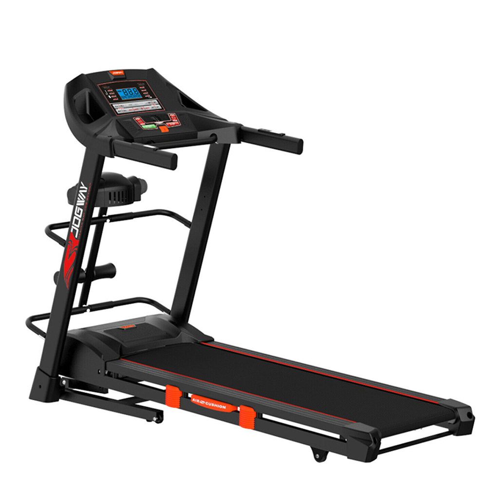 Jogway T15CLM 3.0HP Foldable Electric Treadmill Home Fitness Running Machine w/ Multi-functional Accessories