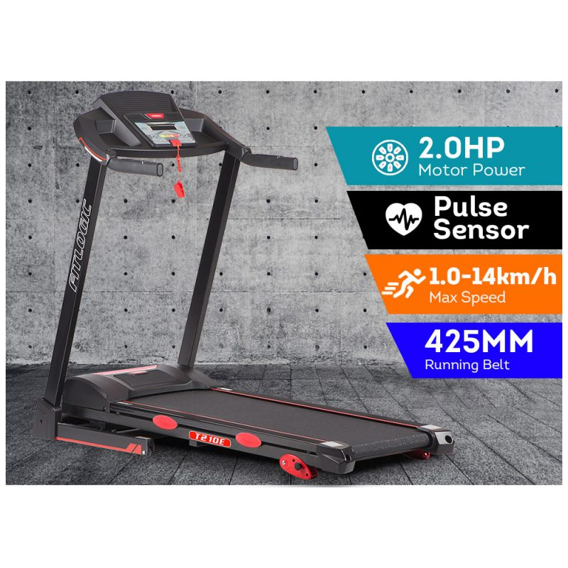 FITLOGIC T210E 2.0HP Electric Treadmill Foldable Manual Incline Home Gym Exercise Machine