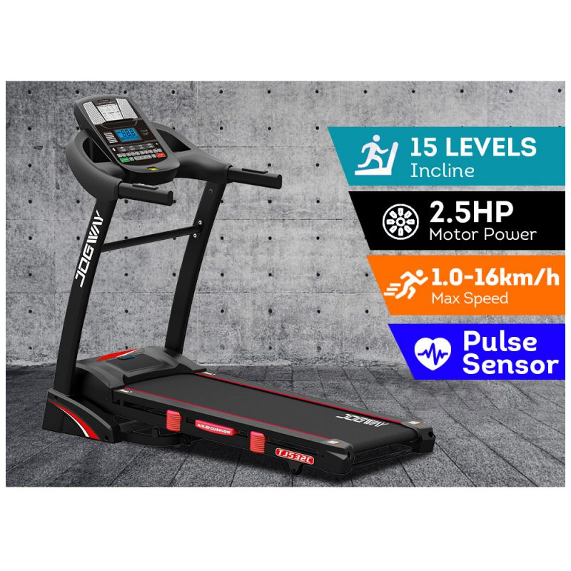 JOGWAY TJ532C 2.5HP Electric Treadmill Foldable Auto Incline Home Gym Exercise Machine