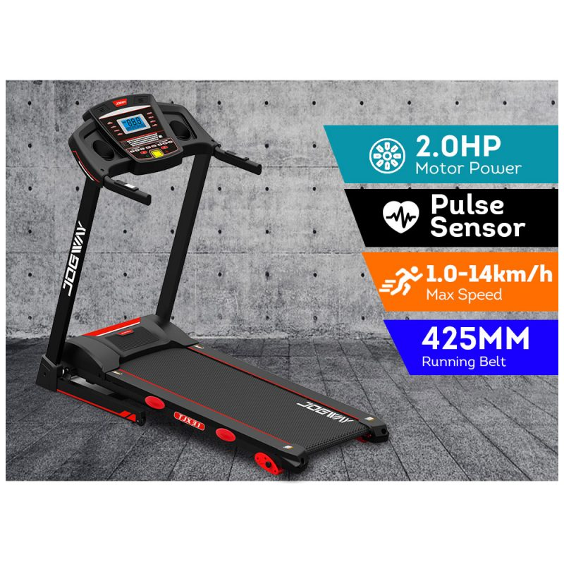 JOGWAY TX31 2.0HP Electric Treadmill Foldable Manual Incline Home Gym Exercise Machine
